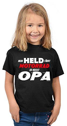 Unbekannt Vatertag Shirt : Mein Held Fährt Motorrad : Opa und Enkelin - Biker-dress-shirt