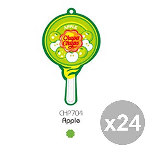 Preisvergleich Produktbild Chupa Chups 24 Set Parfüm Lolly Apfel Chp704 Pflege Reinigung und Car Wash