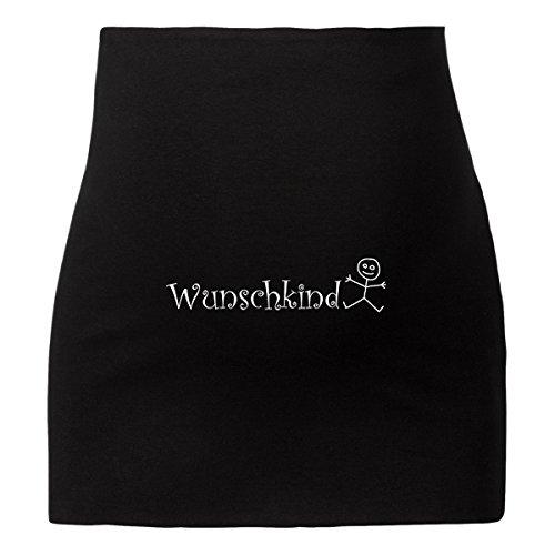 ShirtWorld - Bauchband - Wunschkind Schwarz