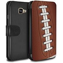 Stuff4 Coque/Etui/Housse Cuir PU Case/Cover pour Samsung Galaxy A5 (2016) / Football américain Design / Balle Sportif Collection