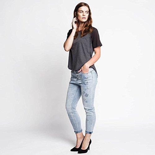 Rock Angel Femme Jeans / Jeans Boyfriend Rosie Bleu