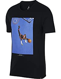 Nike M Nsw Hangtag Swoosh Camisetas y Tops, Hombre, Binary Blue/Turbo Green, XL
