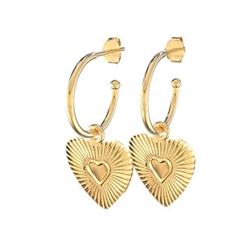 Lora di Lora Ohrringe 22 Boda. Einzigartige Ohrringe mit Charms 18K Vermeil Gold für Frauen 1.5 cm