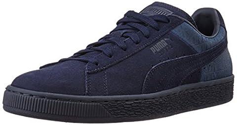 Puma Suede Classic Casual Emboss - Chaussures d'Entrainement - Mixte Adulte - Bleu (Peacoat 02) - 37 EU (4 UK)