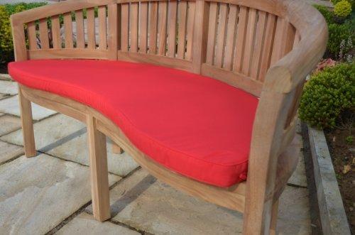 Panchina da giardino classico–Cuscino solo–rosso