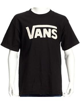 Vans Classic - Camiseta infantil, tamaño S, color negro/blanco