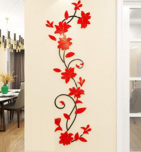 JIAOXM 3D-Stereo Acryl Wandsticker,Wohnzimmer Schlafzimmer Dekoration Selbstklebend Wandsticker Wasserdicht c