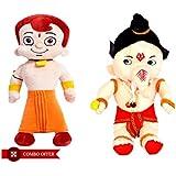 Chhota Bheem And Ganesha (Set Of 2 ) Soft Toys Teddy Bear For Kids Birthday Best Gift … (49 Cm)