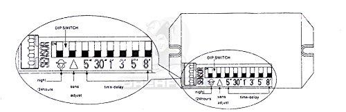 Drehflex® Mini PIR-Bewegungsmelder zum Einbauen 240Volt LED geeignet - 5