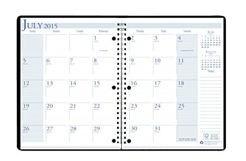 House of Doolittle 2015-2016-Calendario planning per anno accademico, mensile, a 3 fori, colore: blu brillante, 21,59 x 27,94 (8,5 x 11 cm (misure Inches) 26308-16), House of