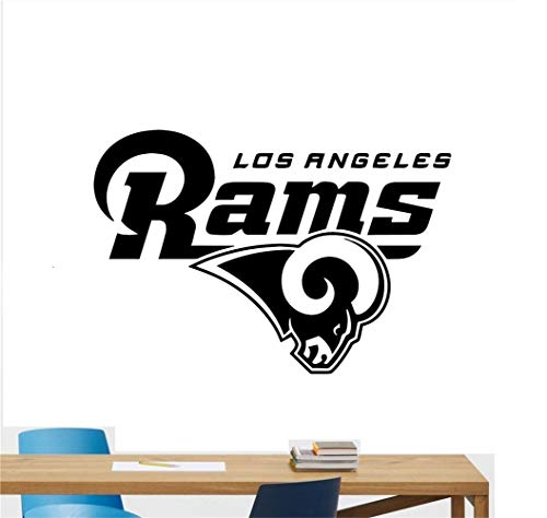 wandaufkleber graffiti Los Angeles Rams Football Team Vinyl Aufkleber Wandaufkleber NFL Emblem Logo Sport Poster Home Interior Removable Decor (Vinyl Angeles-wand Los)