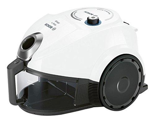 BOSCH BGC3U131 - Aspirador sin bolsa, adecuado para personas alérgicas, tecnología SensorBagless, 600 W, filtro HEPA H13 lavable, color blanco