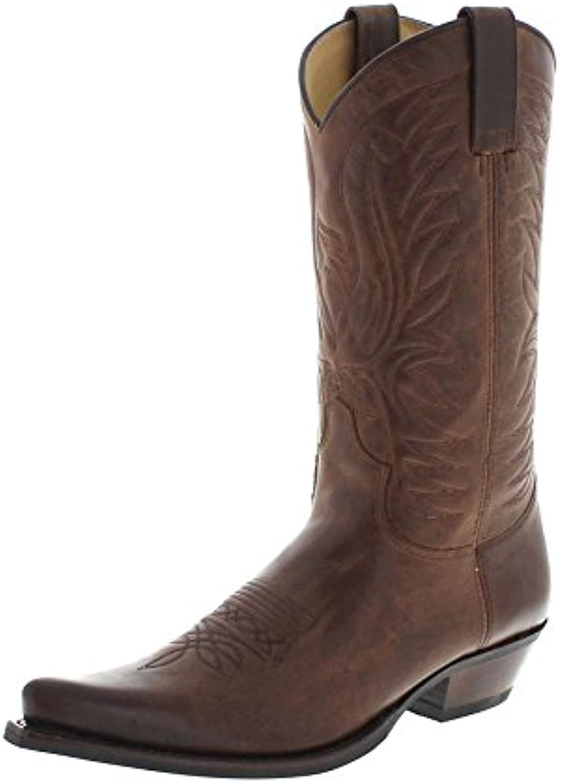 Fashion Boots BU1006 Camello Usado Marron Westernstiefel für Damen und Herren BraunFashion Boots Camello Westernstiefel Groesse