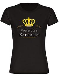 T-Shirt de manga corta y cuello redondo de voleibol Club unaexperta para mujer tallas