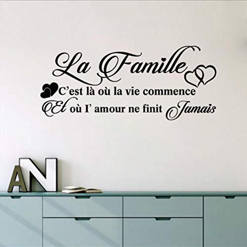 kleber Frankreich Familie Decor Wandkunst Aufkleber Home Wohnzimmer Schlafzimmer Wanddekoration ()