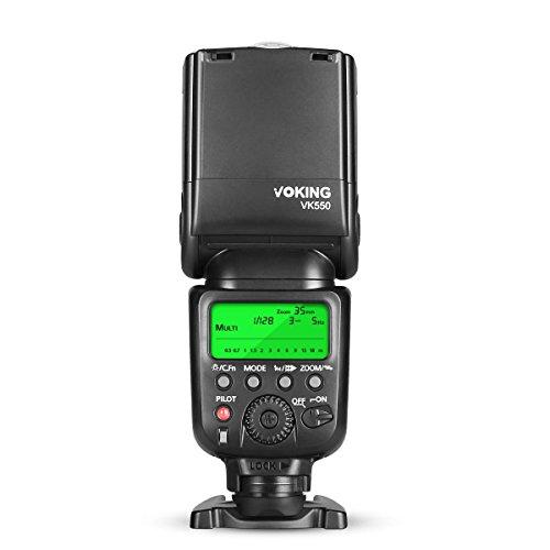 Voking, modello VK550, flash Speedlite con display LCD E-TTL, TTL, per fotocamere reflex digitali Canon EOS 1D, 5D, 6D, 7D, 70D, 77D, 750D, 760D, 80D, 800D, 1300D e altre fotocamere DSLR hot shoe