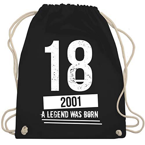 Geburtstag - 18 Geburtstag Jungs 2001 - Vintage Motiv - Unisize - Schwarz - WM110 - Turnbeutel & Gym Bag -