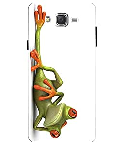 Make My Print Funny Frog Printed White Hard Back Cover For Samsung Galaxy J2