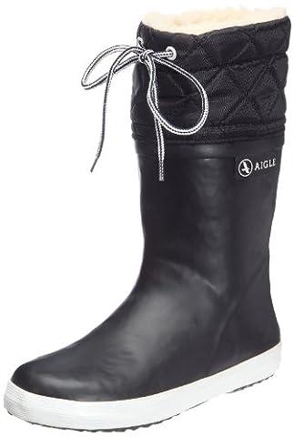 Aigle - Giboulee- Botte de neige - Mixte enfant - Noir (Noir/Blanc)- 28 EU ( 10 UK)