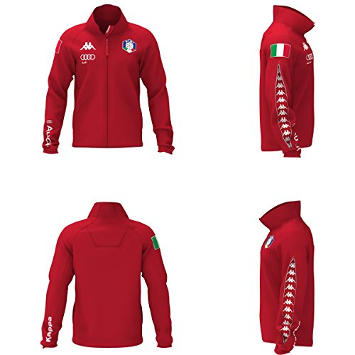 Kappa - 6Cento 687 Mask FISI - Nationalen italienischen Ski-Fleece 2017/2018 - Red (L)