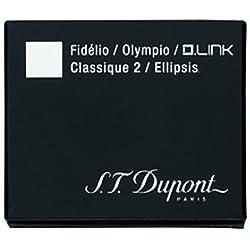 S.T. Dupont - Recambio de tinta para pluma estilográfica (12 unidades, tinta negra)