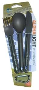 S2S Alphalight, Set posate da campeggio, alluminio (3 pezzi)