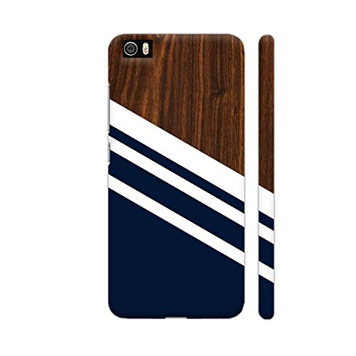 Colorpur Wooden Slices Blue Printed Back Case Cover for Xiaomi Mi 5