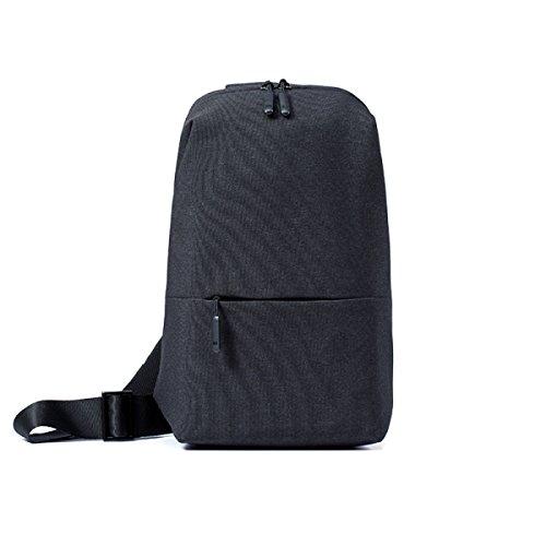 LAIDAYE Freizeitsport Schulter Diagonal Mehrzweck-Indoor-Sporttasche Business-Paket Umhängetasche Brustbeutel Darkgray