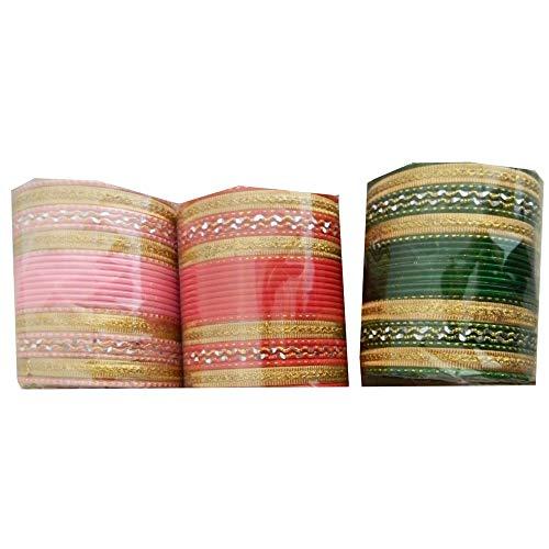 Bollywood Armreifen 72 Bangles 3 Farben 3 Sets zu je 24 Armreifen