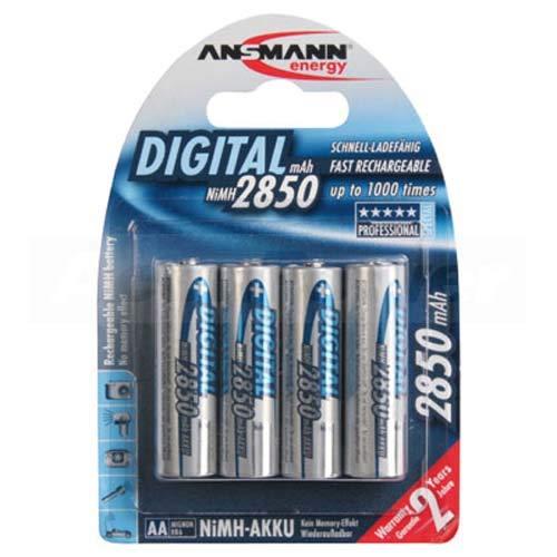 Ansmann Digital AA/Mignon Akku 4-Pack inkl. AccuSafe, 2850mAh Aa 4 Pack