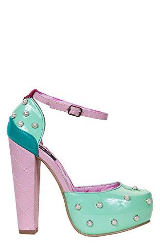 Iron FistLick Me Platform - Decolleté con cinturino alla caviglia donna , Verde (Grün (Mint)), 42
