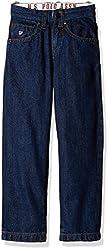 US Polo Association Boys Jeans (UKJN5126_Melange Blue_6 - 7 years)