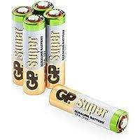 27A 12V Batterien (A27, 27 A, MN27, V27A, WE27A, L828) 12 Volt, zur vielseitigen Verwendung 5 Stück im Multipack (Markenware GP Batteries Super Alkaline)