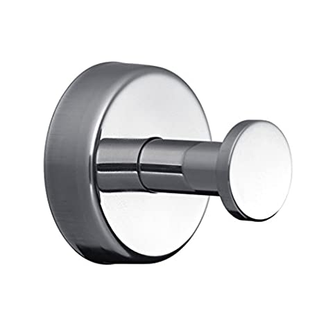 Kapitan Stainless Steel Bathroom Single Robe and Towel Hook, Wall Mounted, AISI 304 18/10, Polished Finish, Made in EU, 20 Years Warranty by Kapitan