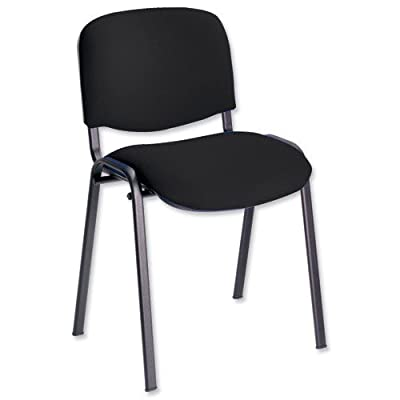 Trexus Stacking Chair Upholstered With Shaped Seat W480XD420XH500mm - cheap UK light store.
