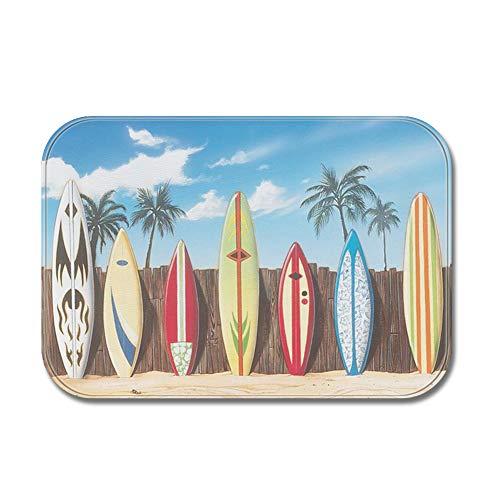 Skateboard-flanell (Sun&Home Fußmatte, personalisierbar, lustige Fußmatte, lustige Fußmatte für drinnen und draußen, für Badezimmer, Dekoration, Vliesstoff, Rutschfeste Fußmatten, Flanell, Skateboard, 17.7x27.5 inch)