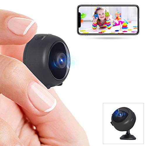 Mini Cámara Espía Full HD 1080P WiFi Videocámara Oculta Cámara de Vigilancia con Visión Noctura Detección de Movimiento Gran Angular iOS/Android
