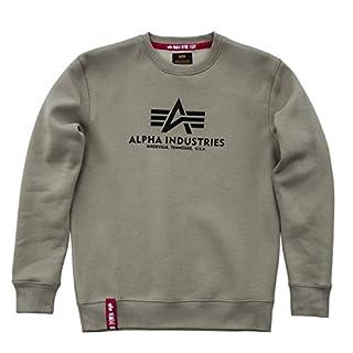 Alpha Industries Herren Pullover Basic Olive L