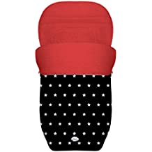 BABY STAR Saco Silla Paseo Universal Reversible (Estrellas Frambuesa)