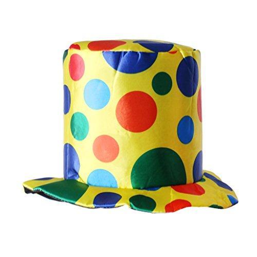 Magideal cappello pagliaccio circo halloween vestito operato cappellini accessori per adulti - #2