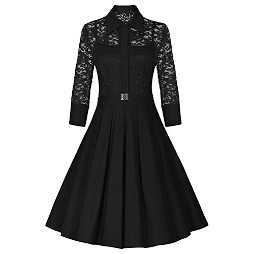Kizu Enterprise Frocks for women western wear knee length (Free Size Black)