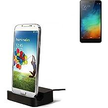 Dock USB Micro adecuado para el Xiaomi Redmi Note 3 (32 GB), negro | estación de carga incluyendo el cable USB 2.0 cable de datos / cargador, la horquilla del muelle de escritorio cargador universal adecuado para el teléfono móvil para smartphones con conector micro USB, cargador de escritorio del cargador, marca: KS-Comercio (TM). compatible con Xiaomi Redmi Note 3 (32 GB)