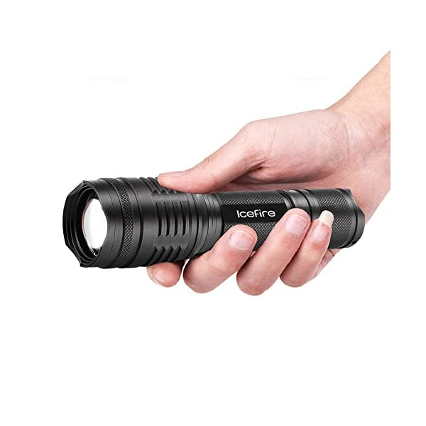 ICEFIRE T70 Torch LED Zoomable Tactical Flashlight CREE XML2 T6 Super Bright 2000 Adjustable Focus Pocket Handheld Light… 2