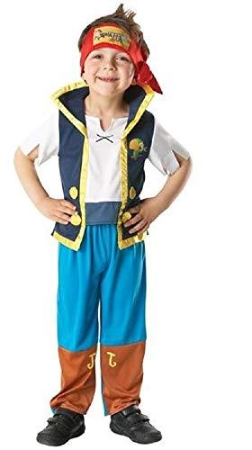 offiziell lizenziert Disney Mädchen Jungen IZZY oder Jake und die Nimmerland Piraten büchertag Woche Halloween Kostüm Kleid Outfit - Jake, 18-24 Months