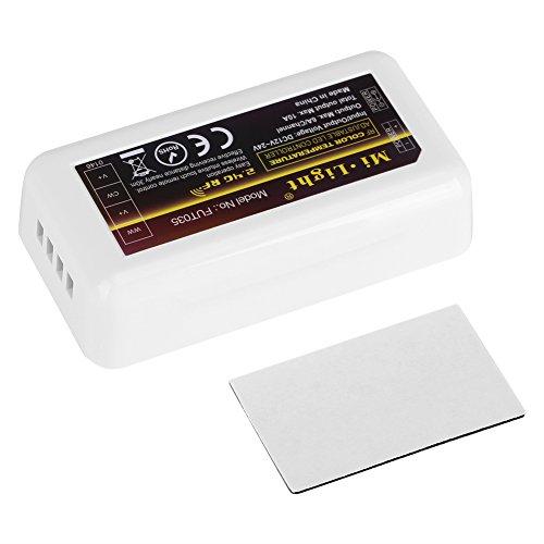 Zerodis Milight 4 Zonen Fernbedienung WiFi Empfänger für Multicolor LED Strips Dimmer für LED Streifen Dual White Controller FuT035 Dual-white Led