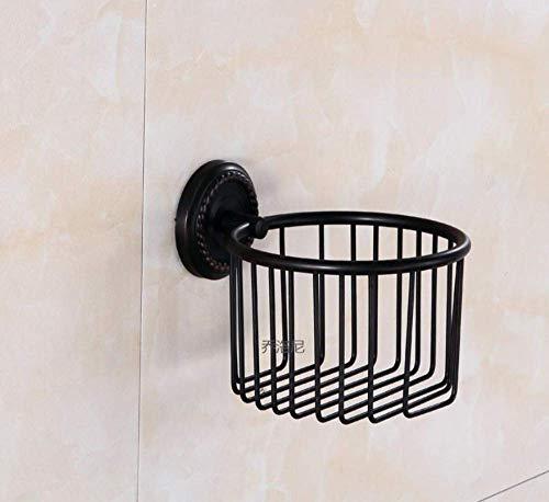 PIJ Modern Style Europäischen Kupfer Papierhandtuchhalter Schwarz Bronze Papierhandtuchhalter Toilettenpapierhalter Badezimmer Hardware-Zubehör Schwarz Bronze Bad-Zubehör -