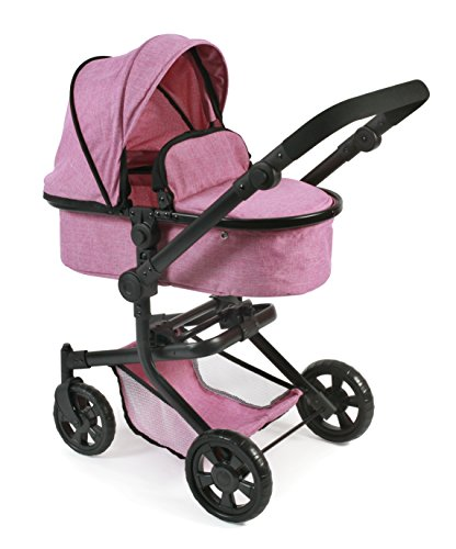 Bayer Chic 2000 595 70 Kombi-Puppenwagen Mika 2in1, Jeans pink