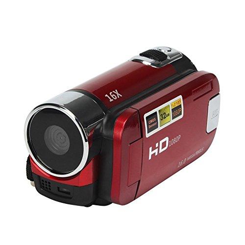 Elec tech Videokamera 1080P Full HD Camcorder 16,0 MP Kamera Recorder Kamera (4/3 Zoll Sensor, Full HD, 16x optischer Zoom, 2.7