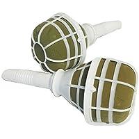 Preisvergleich für inerra Hochzeitsstrauß Halter 7cm - Blumenstrauß Halter Nass Schaum für frische Blumen - Weißes Plastik mit grünem...
