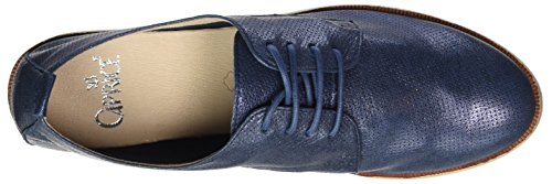 Caprice 23200, Oxfords Femme Bleu (Ocean Metallic)